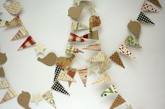 Bazzill's Believe patterned paper makes a darling and easy last minute garland decoration!