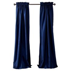 Refresh your master suite or guest room with this lovely faux silk curtain, showcasing a rod pocket opening and a navy hue.   Produ...