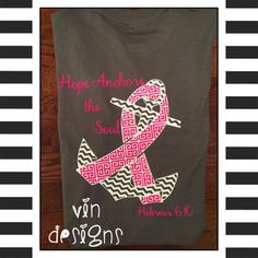 Charcoal Gray tee with hot pink and white design!