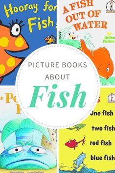 During spring and summer, many teachers add fish, ponds, and ocean themes to their lessons. These fiction fish books for kids work great with them all! Preschool Books, Preschool Themes, Toddler Preschool, Fiction Books For Kids, Books To Read, Kid Books, Toddler Books, Childrens Books, Rainbow Fish Crafts