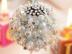 Add a touch of glamour to your tree this Christmas with our glitz-tastic beaded bauble