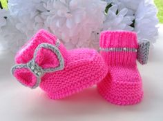 P A T T E R N Knitting Baby Booties Girl Baby Shoes  Knitted Baby Boots Knit Pattern Baby Booty Baby Uggs Patterns Baby Boots ( PDF file ) on Etsy, $5.50