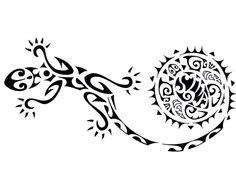 Gekco  Bij de hagedis / gekco groeit de staart weer aan als deze eraf gebeten is. Daarom staat de hagedis symbool voor (her)groei en geluk.