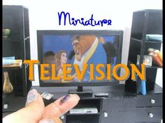 DIY Polymer Clay Television DVD Player Dollhouse Miniature - YouTube