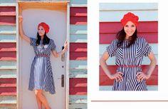 La vida marinera, la mejor #rayas #rojo #vestidomidi