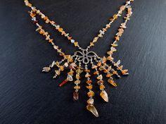 Collar Cascada Cornalina por PetraStoneJoyas en Etsy,