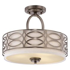 Nuvo Harlow 60/4729 3-Light Semi Flush - 15W in. - Hazel Bronze - 60/4729
