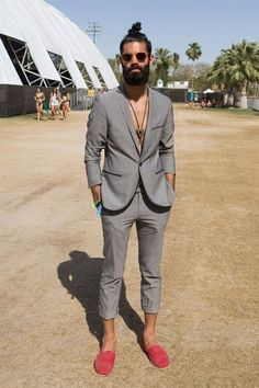 Latest Coat Pant Designs Grey Casual Custom Made Wedding Suits For Men Beach Slim Fit Best Man 2 Pieces Jacket Masculino 720 Style Hipster, Indie Hipster, Stylish Men, Men Casual, Coachella 2013, Coachella Guys Outfits, Coachella Style, Business Mode, Look Street Style