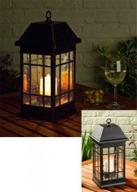 The Small San Rafael Mission Solar Lantern is great for table tops, decks, patios or hang it on a shepherds hook in your garden.  Ours are only 49.95, shipping is free within contiguous US and discounts on large orders. Features: Real seeded glass, light that looks like a real flickering candle, but without the hassle and far more safe!  This is one of our most popular products, and see what our customers say: http://www.solarflairlighting.com/content-pages/page-customer_testimonials