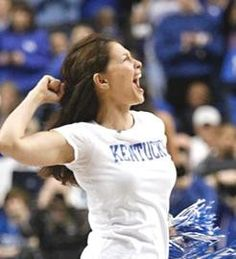 Ashley Judd cheering on our C-A-T-S cats cats cats. LOVE