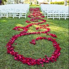 Bride isle decorations | Beautiful easy Isle runner. | Backyard, poolside, Wedding Ideas