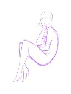 Sitting Pose REF by rika-dono.deviantart.com on @deviantART