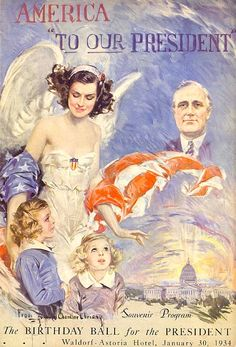 "America ""To Our President"", 1934 // by Howard Chandler Christy"