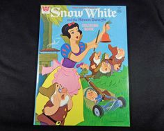 1952 Vintage DISNEY Whitman Coloring Book SNOW WHITE 80 PagesUnused Uncolored