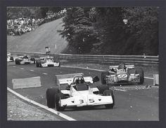 (35) Wilson Fittipaldi - Brabham BT40 - BMW/Schnitzer - Motor Racing Developments - (33) Patrick Depailler - Elf 2 (Alpine A367) BMW - Elf Coombs Racing - (11) Bob Wollek - Motul M1Cosworth BDA - Motul Rondel Racing - (12) Jean-Pierre Jaussaud - Motul M1 Cosworth BDA - Motul Rondel Racing - XXI Grand Prix de Rouen  1973 - European F2 Championship, Round 9