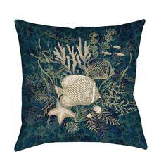 Thumbprintz Fish Vignette Throw/ Floor Pillow