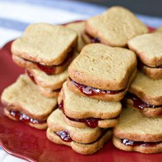 Peanut Butter and Jelly Cookie Sandwiches