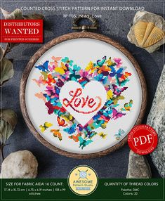 This is modern cross-stitch pattern of Heart for instant download. You will get 7-pages PDF file, which includes: - main picture for your reference; - colorful scheme for cross-stitch; - list of DMC thread colors (instruction and key section); - list of calculated thread length