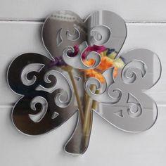 Decorative Irish Shamrock Acrylic Mirror – Suave Petal