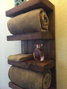 Wood Bathroom Towel Holder