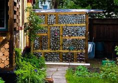 Greenhouse made out of glass jars - includes water catchment system. Diy Greenhouse Plans, Build A Greenhouse, Greenhouse Wedding, Greenhouse Gardening, Aquaponics Garden, Cheap Greenhouse, Backyard Greenhouse, Succulent Gardening, Transformers