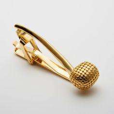Pipe Tie Clip // Gold