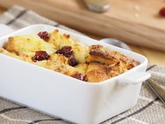 Warm and Delicious Rhubarb Bread Pudding