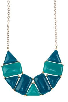 Geometric Stone Bib Necklace. I have this in a corral color.