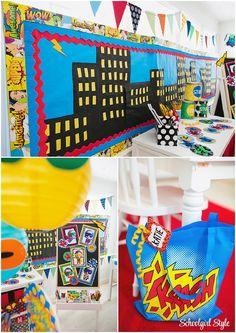 Superhero classroom theme and decor ~Classroom decor by Schoolgirl Style www.schoolgirlstyle.com