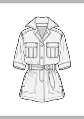OUTER Fashion technical drawings flat Sketches vector template – Buy this stock vector and explore similar vectors at Adobe Stock - Kleidung 2020 Flat Drawings, Flat Sketches, Technical Drawings, Drawing Sketches, Fashion Design Sketchbook, Fashion Design Drawings, Fashion Sketches, Kleidung Design, Fashion Design Template