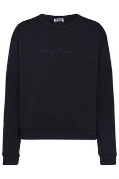 Drykorn Damen Sweatpullover Melida Schwarz | SAILERstyle Trends, Shorts, Sweatshirts, Tops, Sweaters, Fashion, Hot Pink Fashion, Clothing, Black