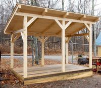 Lean to shed: Simple timber frame shed plans