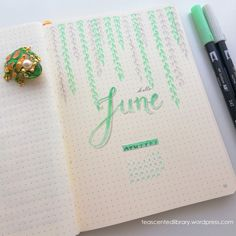 June Bullet Journal – A Tea-Scented Library