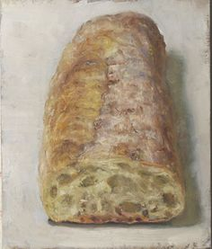 duane kaiser, a painting a day. has a giorgio morandi feel to me. Bread Oil, Food Art Painting, Pencil Shading, Still Life Fruit, Hyperrealism, Art Series, Food Illustrations, Painting Inspiration, Art Images