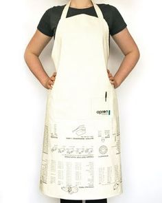 Apron with upside measurements - so clever