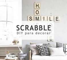 Decora tus paredes con letras scrabble #diy
