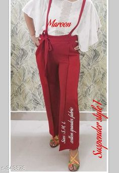 Jumpsuits Stylish Cotton Lycra Women's Pant  *Fabric* Cotton Lycra   *Waist Size* S - 30 in To 32 in  M - 34 in To 36 in  L - 38 in   *Length* Up To 39 in   *Type* Stitched   *Description* It Has 1 Piece Of Women's Pant   *Pattern* Solid  *Sizes Available* S, M, L *    Catalog Name: Ladies Solid Cotton Lycra Dungarees Vol 1 CatalogID_36559 C79-SC1030 Code: 793-343878-