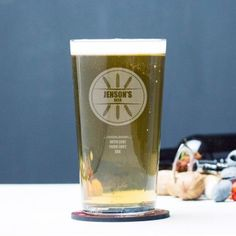 Engraved Pint Glass - Wheat Design