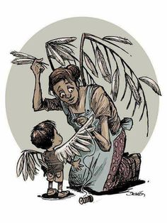 Mother's feathers, child's wings .....
