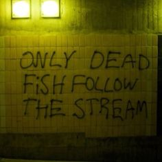 Sayings Graffiti City Quote - The Words, Words Quotes, Me Quotes, Sayings, Wall Quotes, Graffiti Quotes, Graffiti Artwork, Street Quotes, Dead Fish