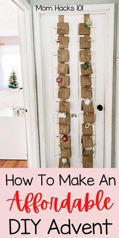 Advent Calendar Kids, Countdown For Kids, Advent Calendar Fillers, Advent For Kids, Christmas Countdown Calendar, Diy For Kids, Christmas On A Budget, Christmas Parties, Kids Christmas