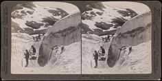 628 (28). Digging a road through the deep July snow-drifts upon Dyreskard Pass (3715 ft.), Norway | Flickr - Photo Sharing!