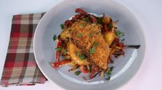Carla Hall's Smothered  Chicken  Paprikash
