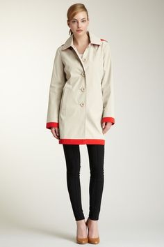 London Fog Colorblock Trench Coat