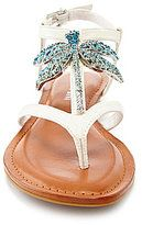 white jeweled sandals-gianni bini kaydence dragonfly jeweled sandals