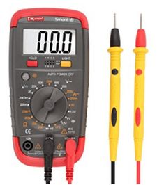 Multii DMiotech Digital Multimeter Multi Tester Capacitance Test AC/DC Voltage Current Resistance Continuity Diode Transistor hFE Meter LCD Backlight Display Smart-C Ac Dc Voltage, Electrical Problems, Thing 1, Look Good Feel Good, Home Improvement, Household, Digital, Hands