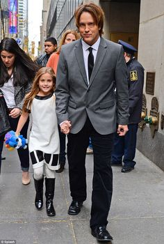 Anna Nicole Smith's daughter DannieLynn Birkhead accompanied her father Larry to The Today Show in New York on Monday