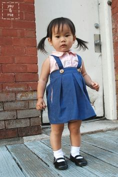 Oh my goodness - adorable tutorial for this fabulous retro romper. Suspender_skirt