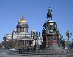 Памятник Николаю I. Исаакиевский собор