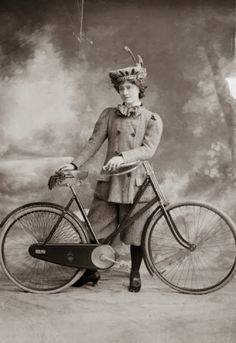 1898: Victorian women's fashion was revolutionalised with the arrival of the safety cycle in 1884. Miss A Hughes in 'A Professor's Love Story'.